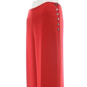 RALPH LAUREN BLACK LABEL RED SILK PANTS 10